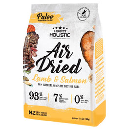 'FREE TREATS': Absolute Holistic Lamb & Salmon Air Dried Grain-Free Cat Food 500g (LIMITED TIME)!