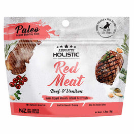'BUY 2 GET 1 FREE' Absolute Holistic Red Meat Air Dried Grain-Free Cat Treats 50g (LIMITED TIME)