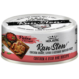 6 FOR $9.90: Absolute Holistic Raw Stew Chicken & Fish Roe Grain-Free Canned Cat & Dog Food 80g