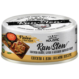 Absolute Holistic Raw Stew Chicken & King Salmon Grain-Free Canned Cat & Dog Food 80g