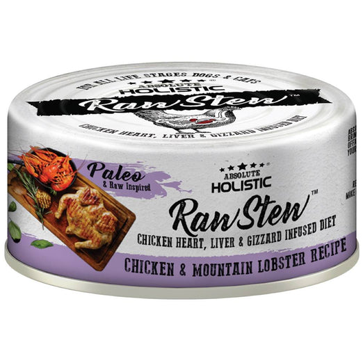 Absolute Holistic Raw Stew Chicken & Mountain Lobster Grain-Free Canned Cat & Dog Food 80g - Kohepets
