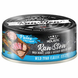 6 FOR $9.90: Absolute Holistic Raw Stew Wild Tuna Classic Grain-Free Canned Cat & Dog Food 80g