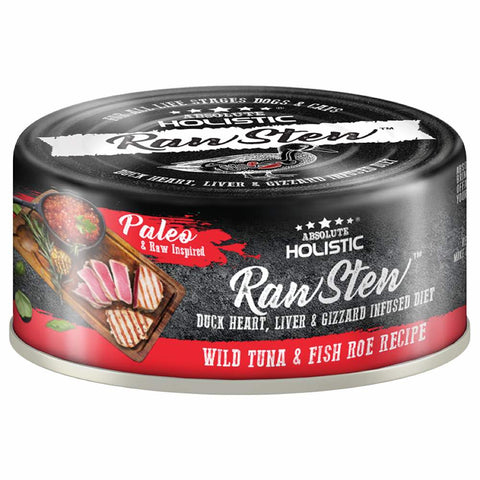 Absolute Holistic Raw Stew Wild Tuna & Fish Roe Grain-Free Canned Cat & Dog Food 80g