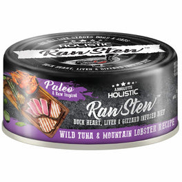 6 FOR $9.90: Absolute Holistic Raw Stew Wild Tuna & Mountain Lobster Grain-Free Canned Cat & Dog Food 80g