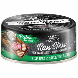 6 FOR $9.90: Absolute Holistic Raw Stew Wild Tuna & Shellfish Grain-Free Canned Cat & Dog Food 80g