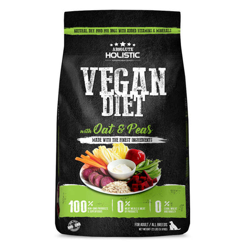 Absolute Holistic Vegan Diet with Oats & Peas Dry Dog Food - Kohepets