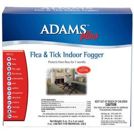 Adams Plus Flea & Tick Indoor Fogger 3oz (3-Pack)