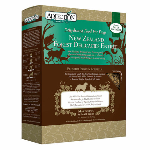 12% OFF 2lb: Addiction New Zealand Forest Delicacies Raw Dehydrated Dog Food - Kohepets