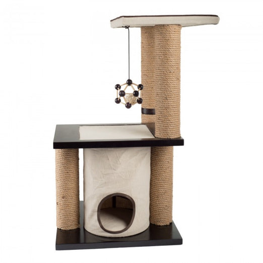 All For Paws Two Level Climb and Play Cat Scratcher - Kohepets