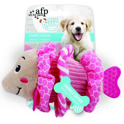 All For Paws Little Buddy Crinkly Lelesea Dog Toy