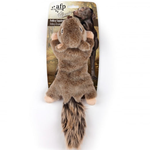 All For Paws Classic Felicy The Squirrel Plush Dog Toy
