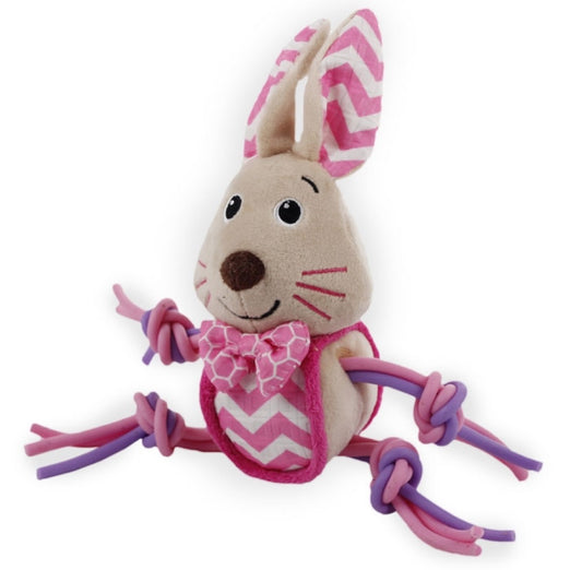 All For Paws Little Buddy Flexi Bunny Dog Toy