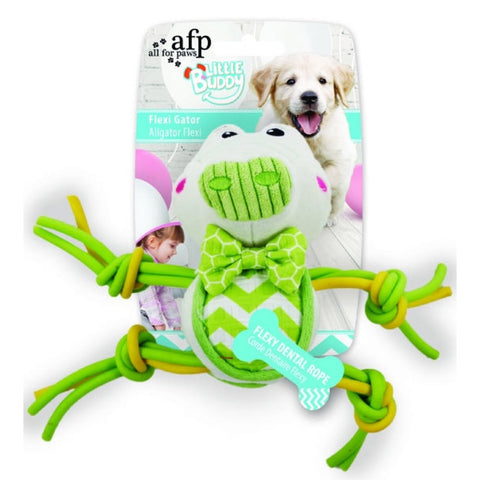 All For Paws Little Buddy Flexi Gator Dog Toy