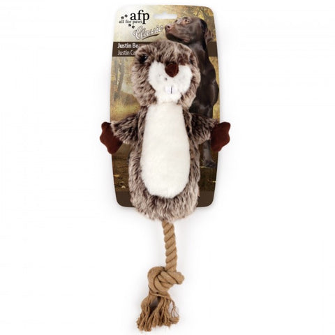 All For Paws Classic Justin The Beaver Plush Dog Toy