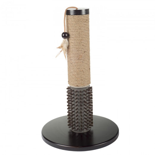 All For Paws Mochachino Scratching Cat Post with Rubber Bristles