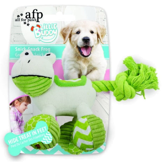 All For Paws Little Buddy Snick-Snack Frog Dog Toy