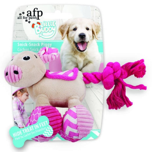 All For Paws Little Buddy Snick-Snack Piggy Dog Toy