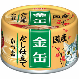Aixia Kin-Can Dashi Skipjack Tuna With Skipjack Tuna Stock Canned Cat Food 70g