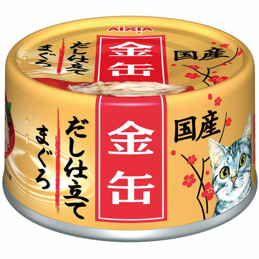 Aixia Kin-Can Dashi Tuna With Tuna Stock Canned Cat Food 60g - Kohepets