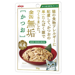 Aixia Kin-can Pure Skipjack Tuna Pouch Cat Food 50g