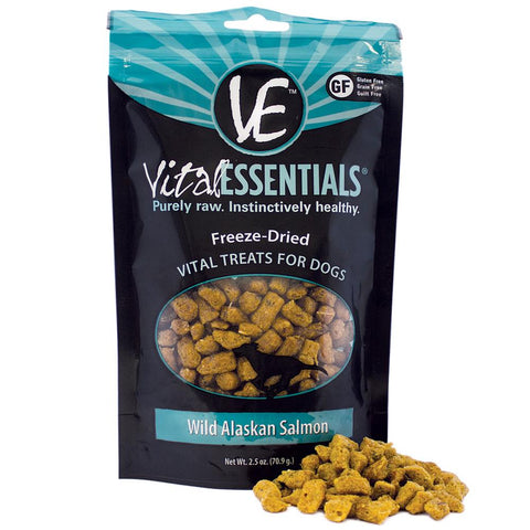 20% OFF: Vital Essentials Freeze-Dried Wild Alaskan Salmon Vital Dog Treats 2.5oz