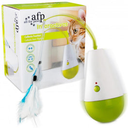 All For Paws Culbuto Feather Interactive Cat Toy
