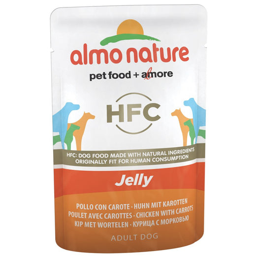 BUY 5 GET 1 FREE: Almo Nature Classic Chicken & Carrots In Jelly Pouch Dog Food 70g