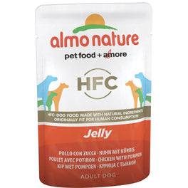 BUY 5 GET 1 FREE: Almo Nature Classic Chicken & Pumpkin In Jelly Pouch Dog Food 70g
