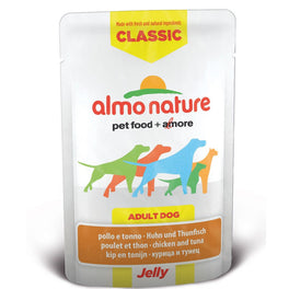 BUY 5 GET 1 FREE: Almo Nature Classic Chicken & Tuna In Jelly Pouch Dog Food 70g