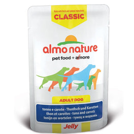 BUY 5 GET 1 FREE: Almo Nature Classic Tuna & Carrots In Jelly Pouch Dog Food 70g