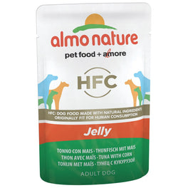BUY 5 GET 1 FREE: Almo Nature Classic Tuna & Corn In Jelly Pouch Dog Food 70g