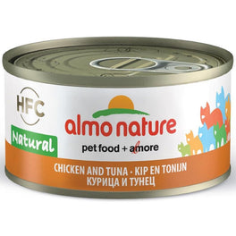 15% OFF: Almo Nature HFC Natural Chicken & Tuna Canned Cat Food 70g