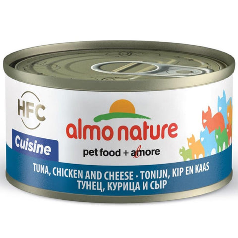 15% OFF: Almo Nature Tuna, Chicken & Cheese Canned Cat Food 70g