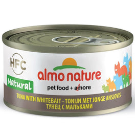 15% OFF: Almo Nature HFC Natural Tuna With Whitebait Canned Cat Food 70g