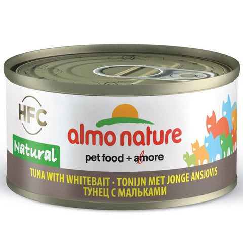 Almo Nature HFC Natural Tuna With Whitebait Canned Cat Food 70g