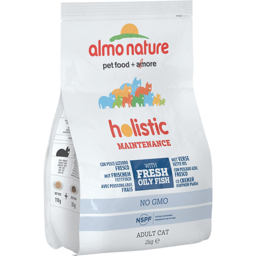 '50% OFF': Almo Nature Holistic Adult Oily Fish and Rice Dry Cat Food 2kg (Exp Apr 19)