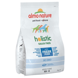 Almo Nature Holistic Extra Small to Small Adult Grain Free Pork & Potatoes Dry Dog Food 2kg