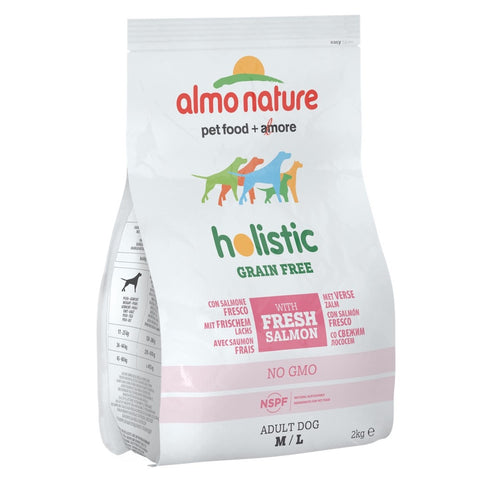 Almo Nature Holistic Medium to Large Adult Grain Free Salmon Dry Dog Food 2kg