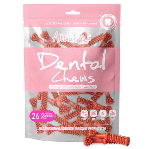 27% OFF: Altimate Pet Cranberry Toothbrush Mini Dental Dog Treats 26pc - Kohepets