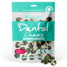 2 FOR $12: Altimate Pet Mint & Chlorophyll Knotted Bone Dental Dog Treats 12pc
