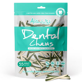 2 FOR $12: Altimate Pet Mint & Chlorophyll Mini Stick Dental Dog Treats 55pc