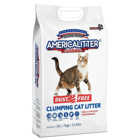 'BUY 3 FOR $44': America Litter DUST FREE Grape scent Clumping Cat Litter 10L