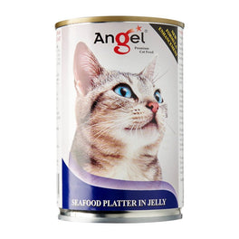 Angel Seafood Platter In Jelly Canned Cat Food 400g