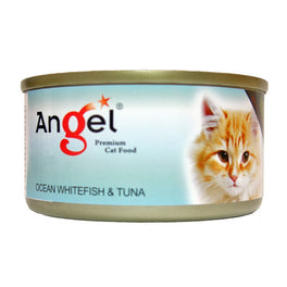 Angel Ocean Whitefish & Tuna Canned Cat Food 80g