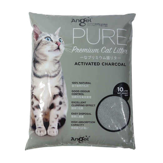 Angel Pure Premium Cat Litter Activated Charcoal 10L