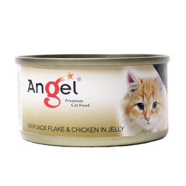 Angel Skipjack Flake & Chicken In Jelly Canned Cat Food 80g