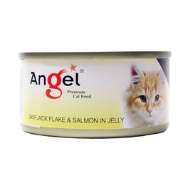 Angel Skipjack Flake & Salmon In Jelly Canned Cat Food 80g