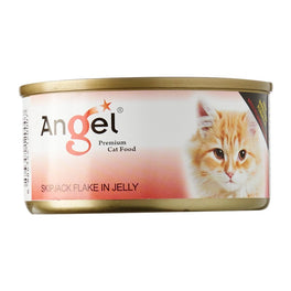 Angel Skipjack Flake In Jelly Canned Cat Food 80g