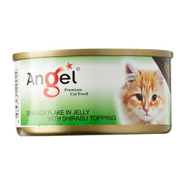 Angel Skipjack Flake In Jelly With Shirasu Topping Canned Cat Food 80g