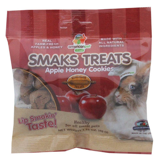 American Pet Diner Smaks Treats Apple Honey Cookies For Small Animals 1.75oz - Kohepets